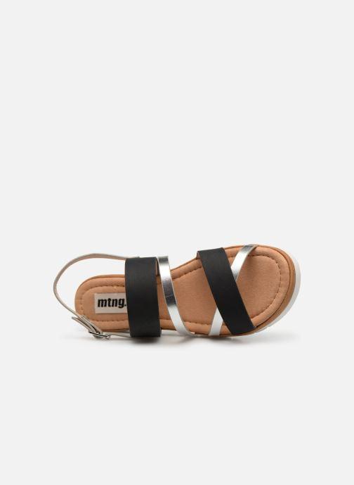 Sandales et nu-pieds MTNG 51089 Noir vue gauche
