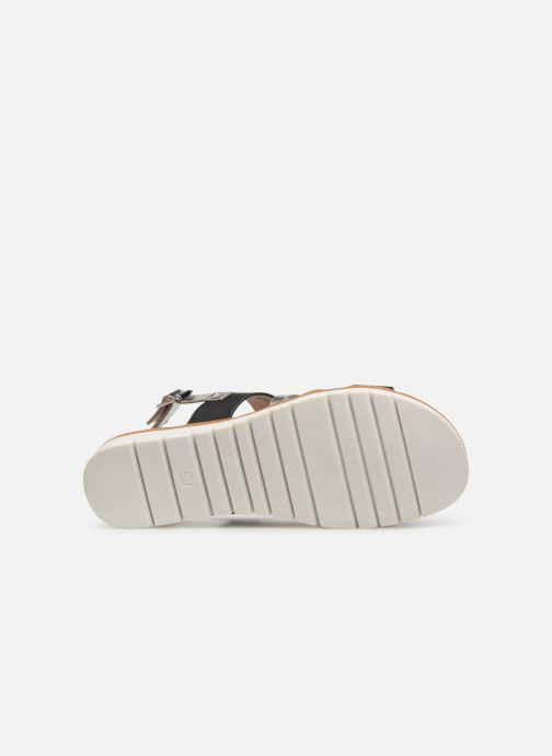 Sandales et nu-pieds MTNG 51089 Noir vue haut
