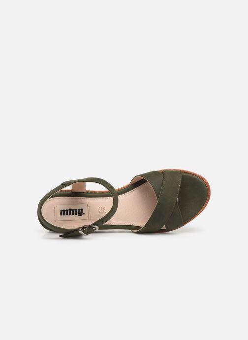 Sandales et nu-pieds MTNG 51091 Vert vue gauche