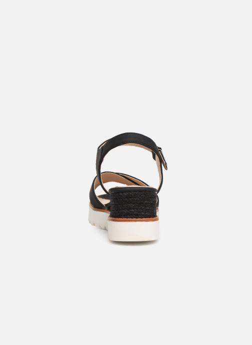 Sandales et nu-pieds MTNG 51091 Noir vue droite
