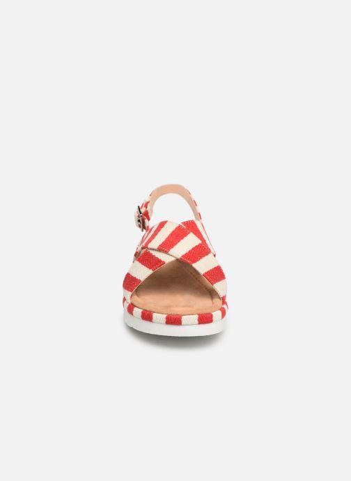 Sandales et nu-pieds MTNG 51093 Rouge vue portées chaussures