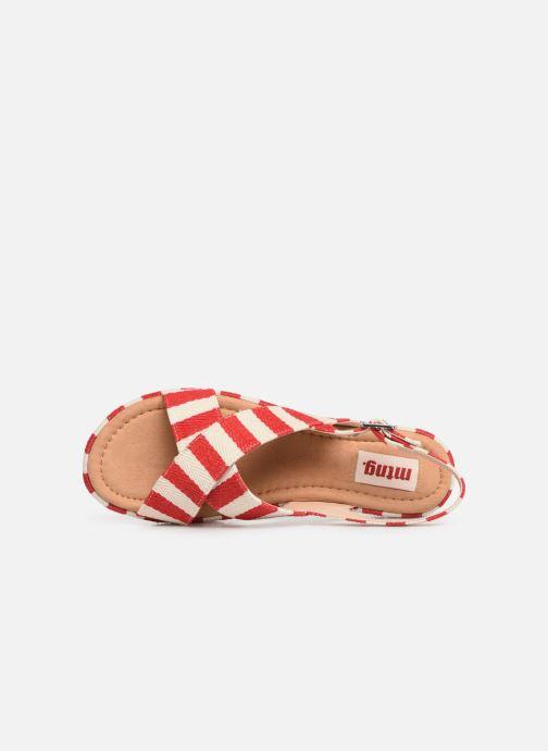 Sandales et nu-pieds MTNG 51093 Rouge vue gauche