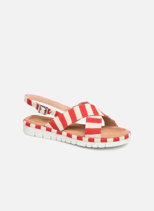 Sandales et nu-pieds MTNG 51093 Rouge vue détail/paire
