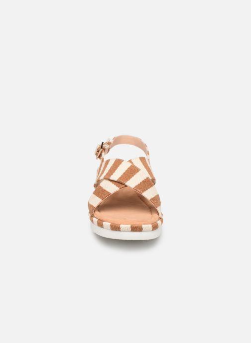 Sandales et nu-pieds MTNG 51093 Marron vue portées chaussures