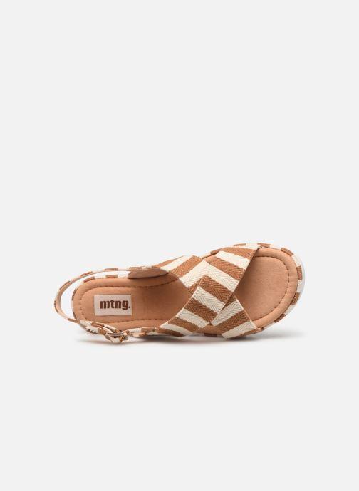 Sandales et nu-pieds MTNG 51093 Marron vue gauche