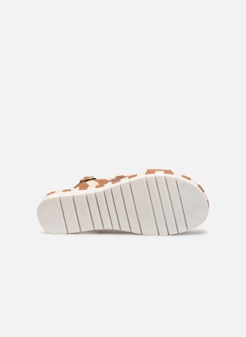 Sandales et nu-pieds MTNG 51093 Marron vue haut