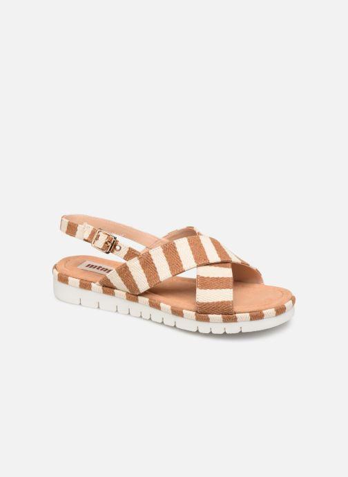 Sandales et nu-pieds MTNG 51093 Marron vue détail/paire