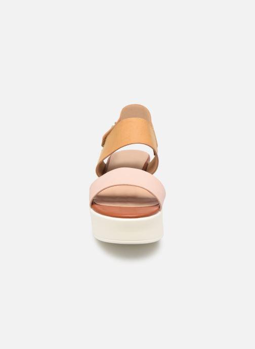 Sandales et nu-pieds MTNG 57564 Marron vue portées chaussures