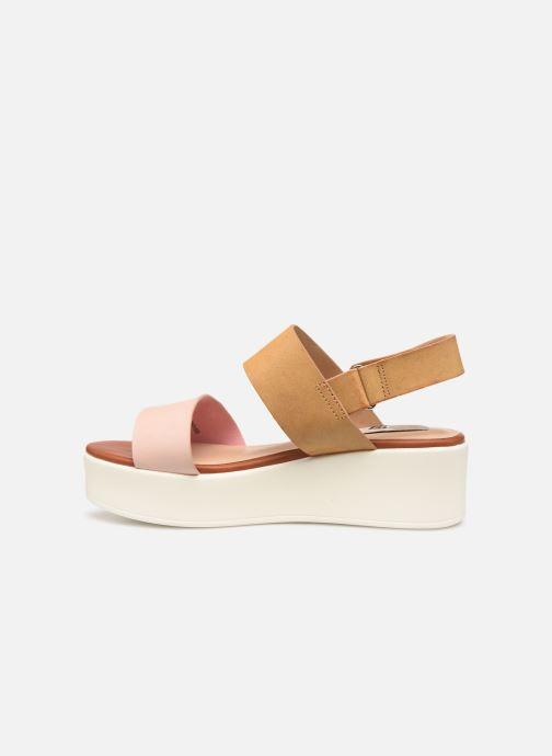 Sandales et nu-pieds MTNG 57564 Marron vue face