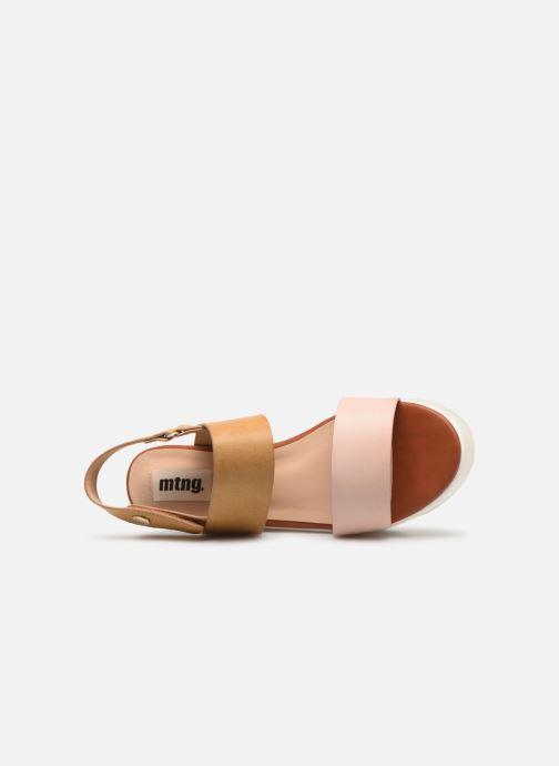 Sandales et nu-pieds MTNG 57564 Marron vue gauche