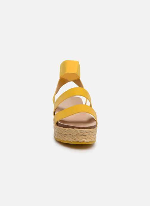 Espadrilles MTNG 57821 Jaune vue portées chaussures