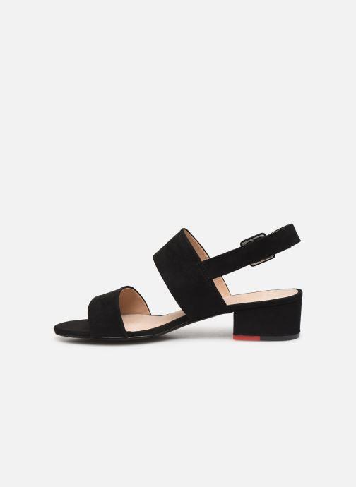 Sandales et nu-pieds MTNG 57932 Noir vue face