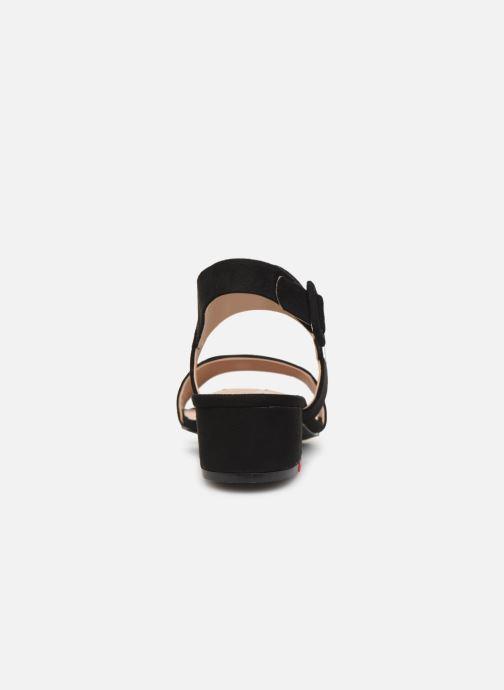 Sandales et nu-pieds MTNG 57932 Noir vue droite