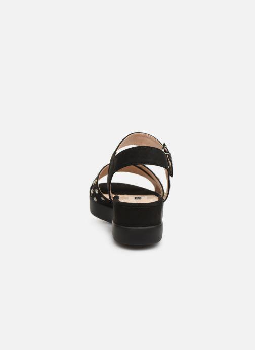 Sandales et nu-pieds MTNG 57940 Noir vue droite
