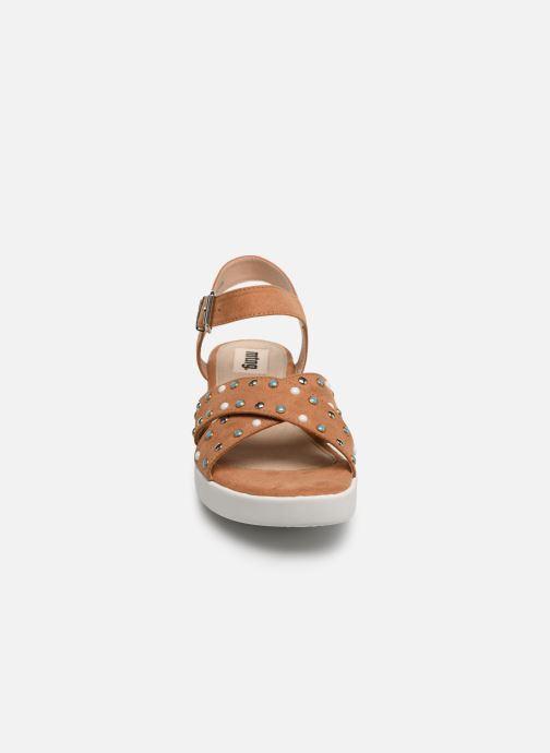 Sandales et nu-pieds MTNG 57940 Marron vue portées chaussures