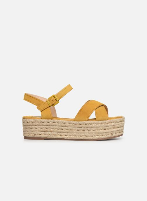 Espadrilles MTNG 58199 Yellow back view
