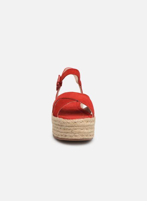 Espadrilles MTNG 58199 Rouge vue portées chaussures