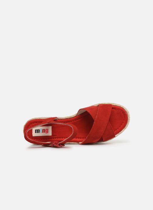 Espadrilles MTNG 58199 Rouge vue gauche