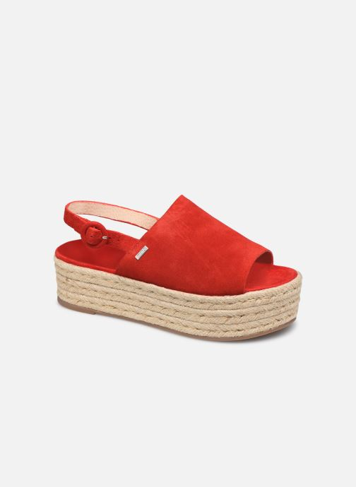 Espadrilles MTNG 58201 Red detailed view/ Pair view