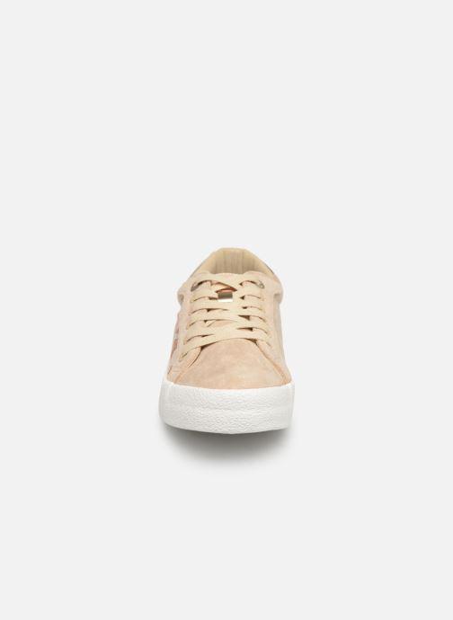 Baskets MTNG 69439 Beige vue portées chaussures