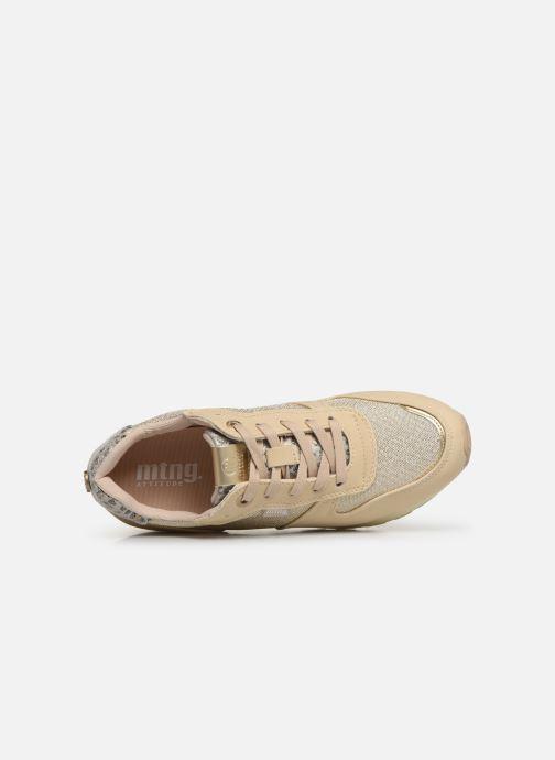 Baskets MTNG 69469 Or et bronze vue gauche
