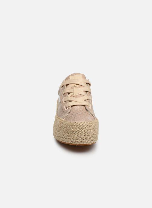 Baskets MTNG 69476 Or et bronze vue portées chaussures