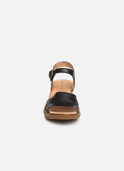 Sandales et nu-pieds El Naturalista Vaquetilla N5352 Noir vue portées chaussures
