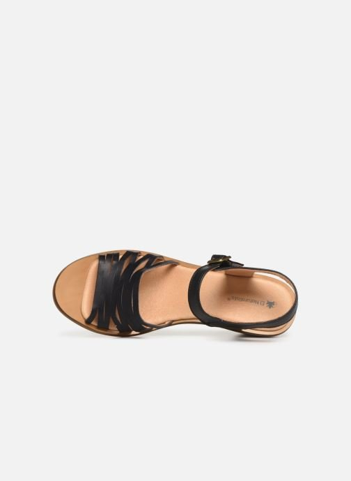 Sandals El Naturalista Vaquetilla N5352 Black view from the left