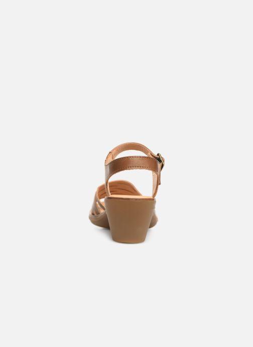 Sandales et nu-pieds El Naturalista Vaquetilla N5352 Marron vue droite