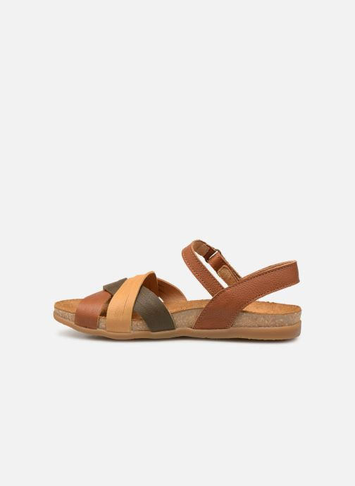 Sandals El Naturalista Zumaia N5242 Brown front view