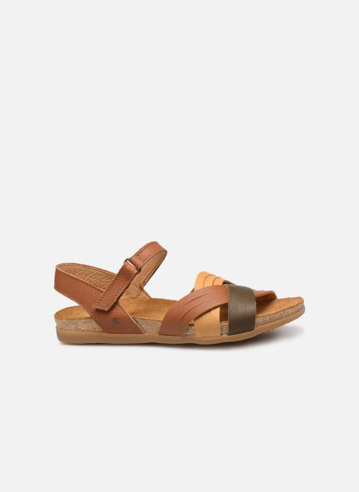 Sandals El Naturalista Zumaia N5242 Brown back view