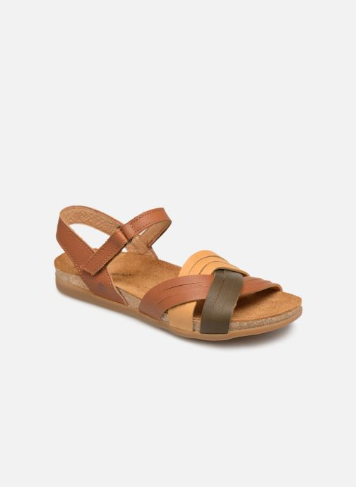 Sandals El Naturalista Zumaia N5242 Brown detailed view/ Pair view