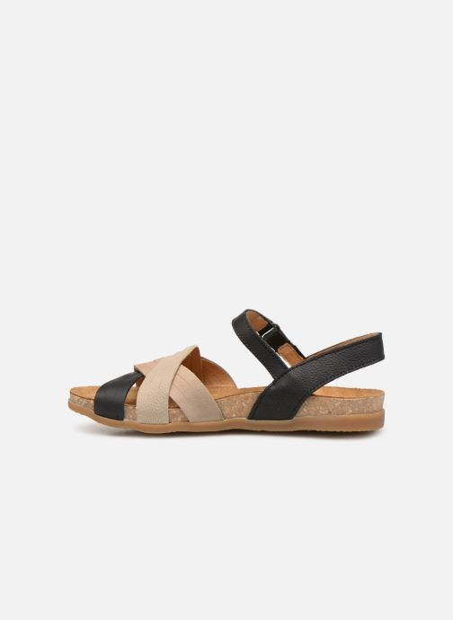 Sandals El Naturalista Zumaia N5242 Black front view