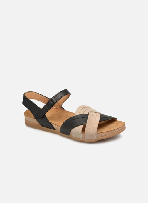 Sandals El Naturalista Zumaia N5242 Black detailed view/ Pair view