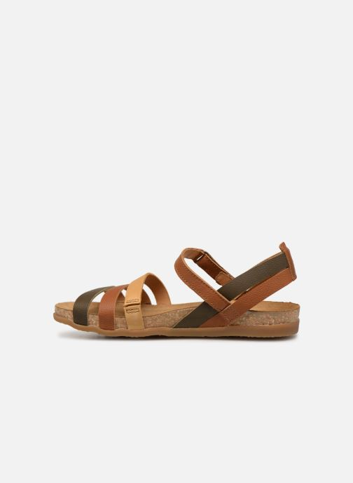 Sandals El Naturalista Zumaia N5244 Brown front view