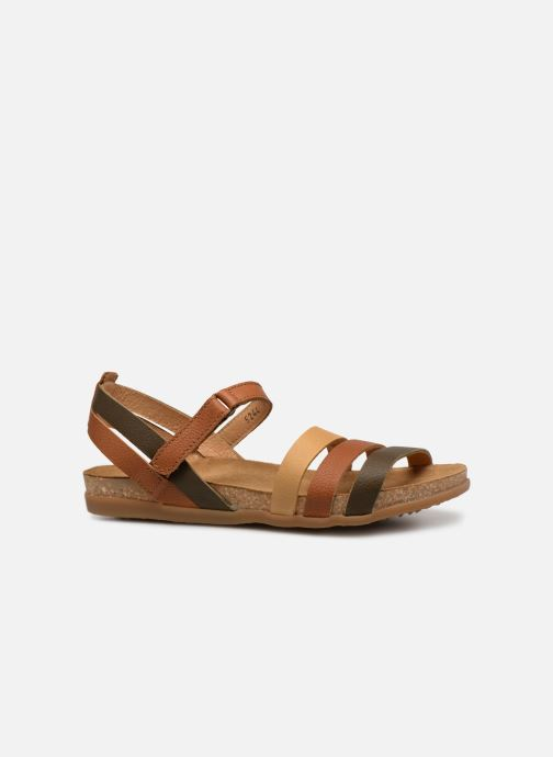 Sandals El Naturalista Zumaia N5244 Brown back view