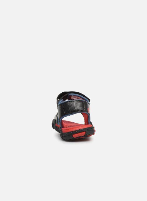 Sandales et nu-pieds Cars Greg Noir vue droite