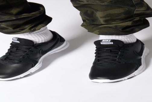 2bb7b432692 Sport shoes Nike Wmns Nike Flex Essential Tr Lt Black view from underneath    model view