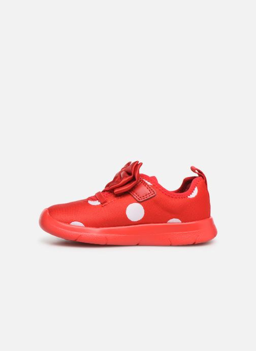 Baskets Clarks Ath Bow x Minnie Rouge vue face
