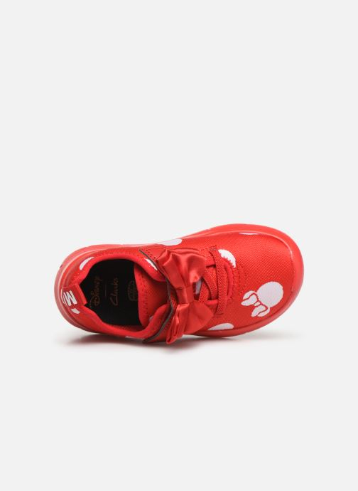 Trainers Clarks Ath Bow x Minnie Red view from the left