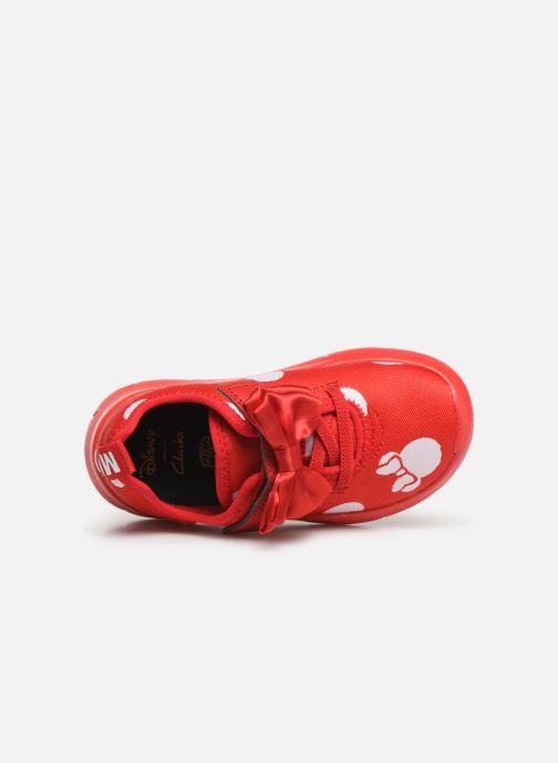 Baskets Clarks Ath Bow x Minnie Rouge vue gauche