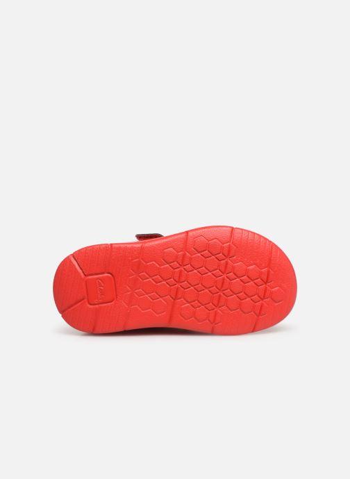 Baskets Clarks Ath Bow x Minnie Rouge vue haut