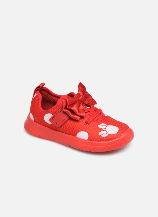 Trainers Clarks Ath Bow x Minnie Red detailed view/ Pair view