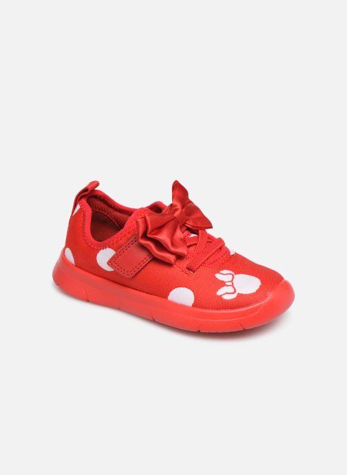 Baskets Clarks Ath Bow x Minnie Rouge vue détail/paire