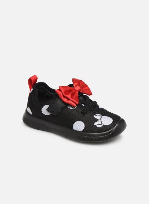 Baskets Clarks Ath Bow x Minnie Noir vue détail/paire
