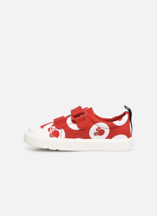 Trainers Clarks City PolkaLo x Minnie Red front view