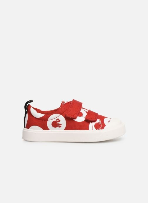 Trainers Clarks City PolkaLo x Minnie Red back view