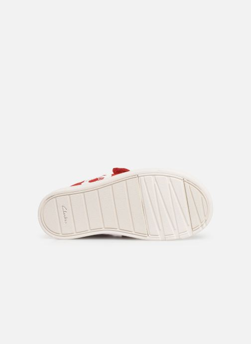 Trainers Clarks City PolkaLo x Minnie Red view from above