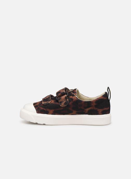 Sneakers Clarks City Geo Bruin voorkant