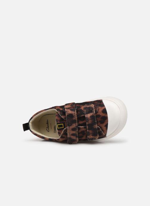 Sneakers Clarks City Geo Bruin links